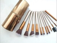 New 12Pcs Sets Eye Shadow Foundation Eyebrow Lip Brush cosme...