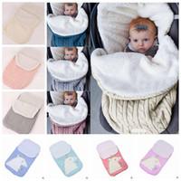赤ちゃんの寝袋に寝ている綿編み服の新生児の毛布ベビーカーカートスワッドル幼児冬の折り返し保育園寝具睡眠Sack YL595