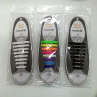 V-Tie Design créatif Design de mode unisexe Athletic Running Pas de lacet de chaussure cravate Lacets élastiques en silicone paresseux Toutes les baskets pour adulte (16pcs)