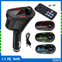 Бесплатная доставка yentl автомобильный MP3-плеер USB SD MMC цифровой пульт дистанционного управления музыка зарядное устройство беспроводной MP3 комплект FM-передатчик радио приемник стерео
