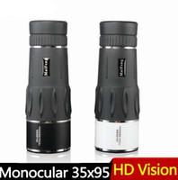 Новый 35x95 охота монокуляр зум HD телескоп путешествия высокой мощности увеличение качества бинокль наблюдение за птицами монокуляр Spyglass
