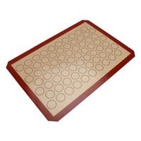 42 * 29.5 cm Baking Mat Non-Stick Folha De Almofada De Silicone Ferramentas de pastelaria Bakeware Rolling Dough Mat para Bolo Bolinho Macaron Pads Nova Moda