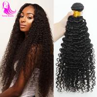 Pervian Kinkys Curly Virgin cheveux humains 4Bundels Lot de tissage de cheveux humains humide et ondulé Extension de cheveux Machine Double trame pleine tête meilleure beauté