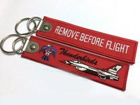 Thunderbirds Fighter Remove Before Flight Key Chain Keyrings...