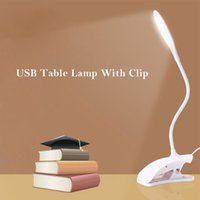 USB Desk Lamp With Clip Protect Eyes Modern 14 LED Table Lig...
