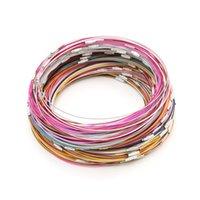 Alta qualità 200pcs filo di acciaio inossidabile choker risultati dei monili del braccialetto che fa collana di corda d'acciaio del collare di filo intorno 45 cm