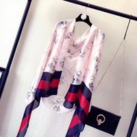 Designer Silk scarf for Women 2018 Spring Luxury Brand Strip...