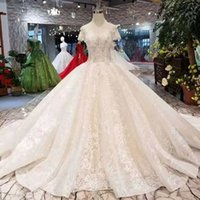 Luxury Wedding Dress Pure New Appliques Off Shoulder Sweethe...