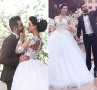 Saudi Arabia Ball Gown Wedding Dresses Sweetheart Neckline S...