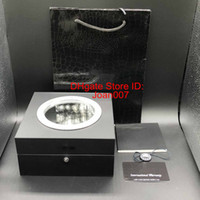 最高品質のウォッチボックスフルブラックウォッチボックス透明Hオリジナルウォッチボックスハブウォッチボックススポットサプライトップクオリティボックス