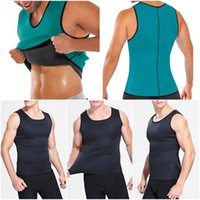 Men Body Shaper Vest Gym Neoprene Sauna Ultra Thin Slimming ...