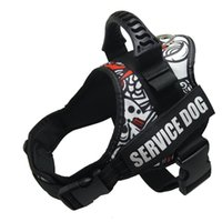 Hundeweste Harness für Service-Hunde, weiches Futter Gepolsterte Hundetrainingsweste mit reflektierenden Patches und Griff für Large Medium Small Dogs