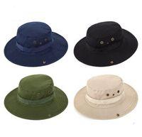 4 ألوان عارضة ourdoor ظلة قبعة كاب هومبورغ السفر القبعات الصيد قبعات الغربية رعاة البقر قبعة الأزياء دلو القبعات للرجال
