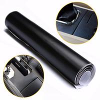 100X30 cm Siyah Deri Doku DIY Araba İç Pano Sticker Trim Vinil Wrap Sac Film PVC Çıkartmalar Araba Styling