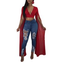 02973518f5 Wholesale sexy hippie clothes online - hippie style women tops V Neck New  sexy clubwear streetwear