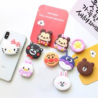 DHL Silicone Cartoon Holders Espansione Holder Stand Grip Clip Ring per iPhone X 8 Samsung Cellulari Air Bag Cell Phone Bracket