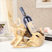 Hot Beauty Girl Wine Rack Bikini Girls Resin Ornaments Statue Decoration Creativo Wine Holder per Bar Wedding Party Home Office Deco