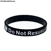 1PC In Case Emergency Do not Resuscitate Silicone Wristband ...