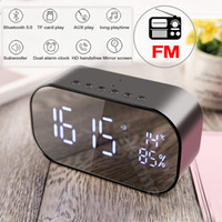LED Alarm Clock with FM Radio wireless Bluetooth Speaker Sup...