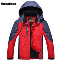 Mountainkin 5XL Men's Spring Fleece Softshell Chaquetas Deportes al aire libre Abrigos impermeables Senderismo Camping Trekking Mascule Chaqueta RM019