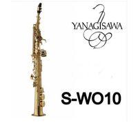 Ankomst Yanagisawa S-991 S-WO10 Guldpläterad saxofon sopran B (b) Tune B Flat Sax Brass Instrument med munstycke