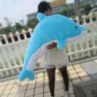 Hot 30 CM do 200 cm Niebieski / Różowy Dolphin Cute Pluszowa Zabawki Lalka Miękka Poduszka Poduszka Valentine'Sgift
