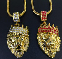 New Arrivals high quality Hop Gold Plated Black Eyes Lion He...