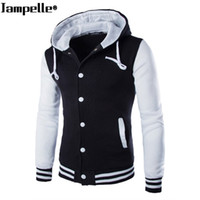 Autumn Winter Men' s Hooded Baseball Jacket Cotton Slim ...
