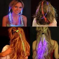 Led Saç Flaş Örgü Renkli Işık Örgüler Plastik Peruk Saç Dekorasyon Muhteşem Fiber Işıltılı Örgü Aksesuarları Yanıp Sönen Saç