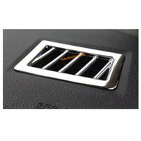 Freies Verschiffen Auto Kopf Abdeckung Rahmen Lampe Trim ABS Chrom Front Klimaanlage Outlet Vent 2 stücke Für Toyota Corolla Altis 2017 2018 2019