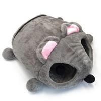 الخريف الشتاء الكلب منزل دافئ القط منزل الأرائك الكرتون ماوس شكل عش القط نفق السرير الحيوانات يندبروف السرير