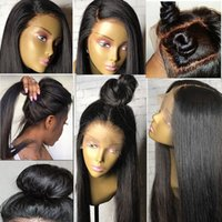 Full Lace Wigs Silky Straight Human Hair 130% Density Natura...