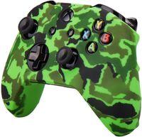 uma cor Multi-Camuflagem borracha de silicone pele aperto caso capa para Xbox