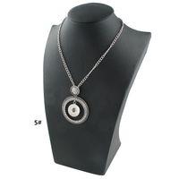 Noosa فريدة من نوعها زر المفاجئة قلادة قلادة مع كريستال صغيرة كبيرة دائرة كاملة تشيكوسلوفاكيا الماس والمجوهرات للبيع