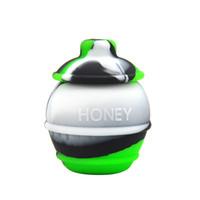 DHL Wholesale FDA aprueba 26 ml Frascos de silicona Dab Wax Vaporizer Contenedor de aceite Non Stick Large Slick Oil Wax Container