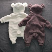 Infants and young children, cute bear ears, warm fleece, con...