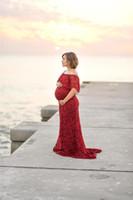Dantel Maxi Elbise Annelik Fotoğrafçılık Sahne Gebelik Elbise Annelik Elbise Fotoğraf Çekimi Hamile Kadınlar Için Elbise