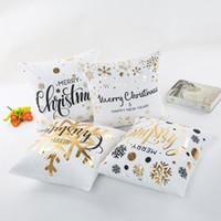 Feliz Natal Bronzing Travesseiro Decorativo Capa Geométrica Lance Fronha Caso 45CMX45CM para sofá assento coxim cobrir