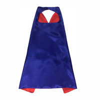 Double Side Designs 70*70cm Kids Superhero Cape Cartoon Cute Capes and Masks Children Kids Capes Cosplay Party Costumes Halloween Gift