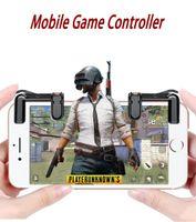 Teléfono Gamepad Disparador Botón de disparo Disparos sensibles y teclas de objetivo L1 / R1 Shooter Joystick para PUBG / Reglas de supervivencia