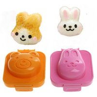 6pcs   Lot Plastic Rabbit And Bear Egg Mold Rice Mould For K...