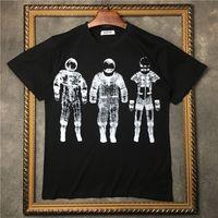 Siyah Moda okul tarzı El-çizilmiş grafiti kafatası kafa baskı T-Shirt Yaz ekip boyun Yeni 100% Pamuk erkekler Kısa Kollu Tee Tişörtleri