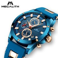 MEGALITH Men Quartz Watch With Waterproof Analogue Chronogra...