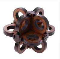Inteligência de madeira Brinquedo Kong Ming Bloqueio Óculos de Bloqueio Enigma 3D Quebra-cabeças Quebra-cabeças para Crianças Dos Miúdos