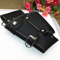 professional Multifunction hair scissors leather case Waist ...