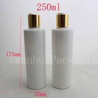 250ml x 20 weiße leere Plastikölflaschen mit Kappen, Flasche DIY 250ML Lotion PET mit Kappe, klaren Kosmetikverpackungen Flaschen
