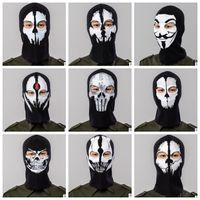 전체 얼굴 마스크 모자 통기성 모자 Ostume 코스프레 마스크 모자 Mens 패널 전술 마스크 모자 후드 Balaclava 모자 모자 KKA4547