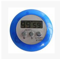 Горячие продать ЖК-цифровой кухонный таймер портативный круглый магнитный обратный отсчет будильник таймер с подставкой кухня инструмент 5 цветов 300 шт.