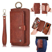 Wallet Case Zipper Purse Detachable Magnetic 14 Card Slots M...