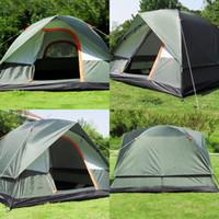 3-4 사람 방풍 캠핑 텐트 듀얼 레이어 방수 팝업 오픈 안티 UV 관광 텐트 야외 하이킹 해변 여행 Tienda